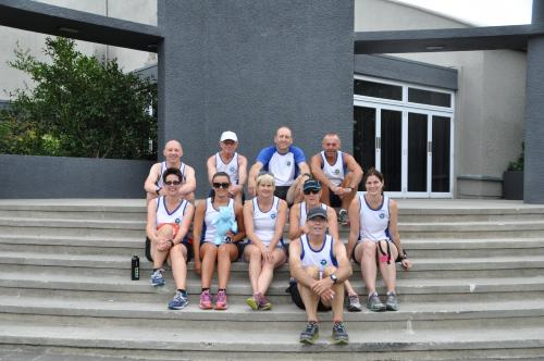 The team at Round Taupo relay
